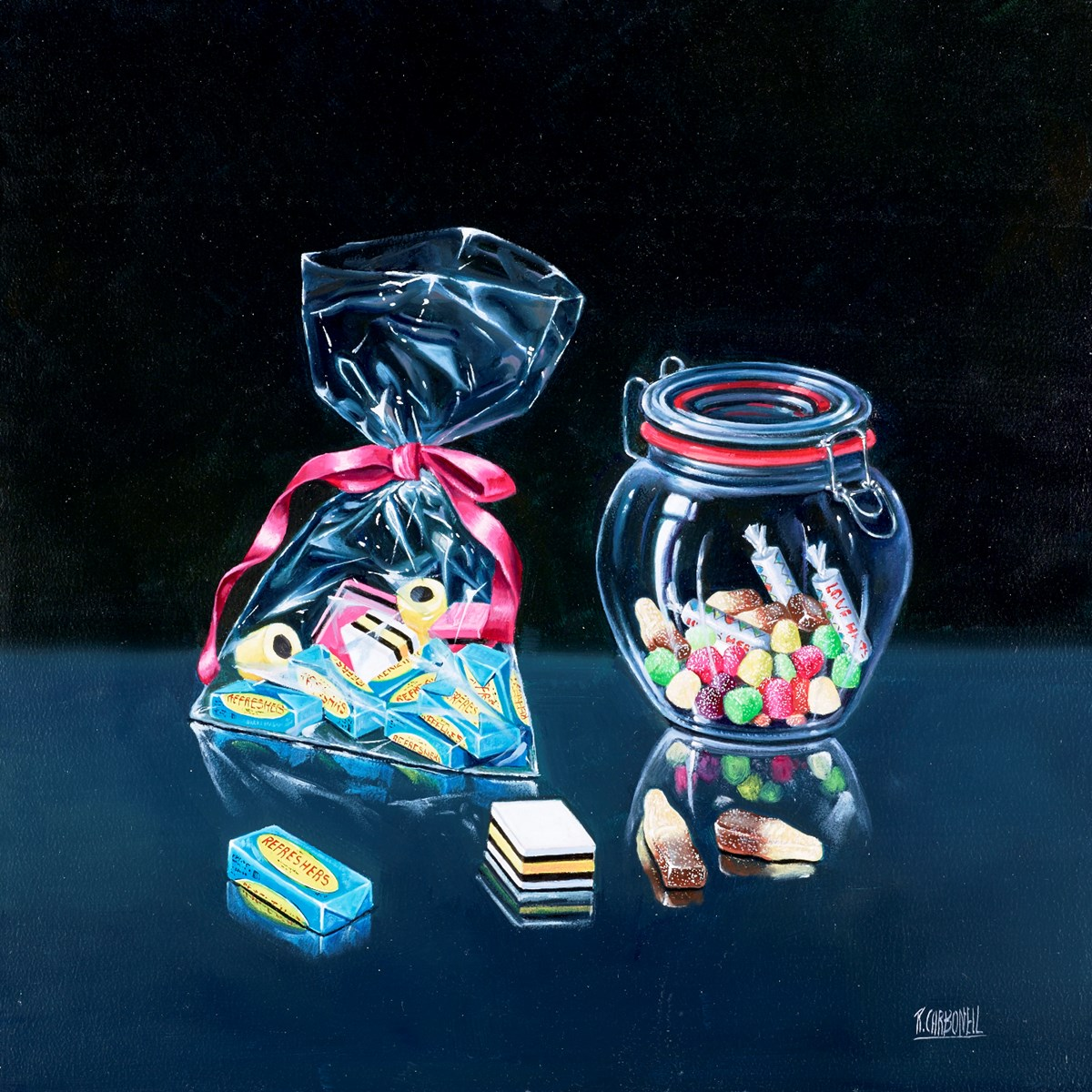 Refreshers I by raquel carbonell -  sized 20x20 inches. Available from Whitewall Galleries